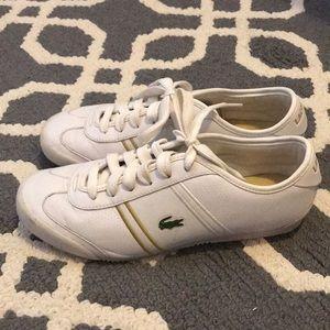 White Lacoste Sport Runners like new